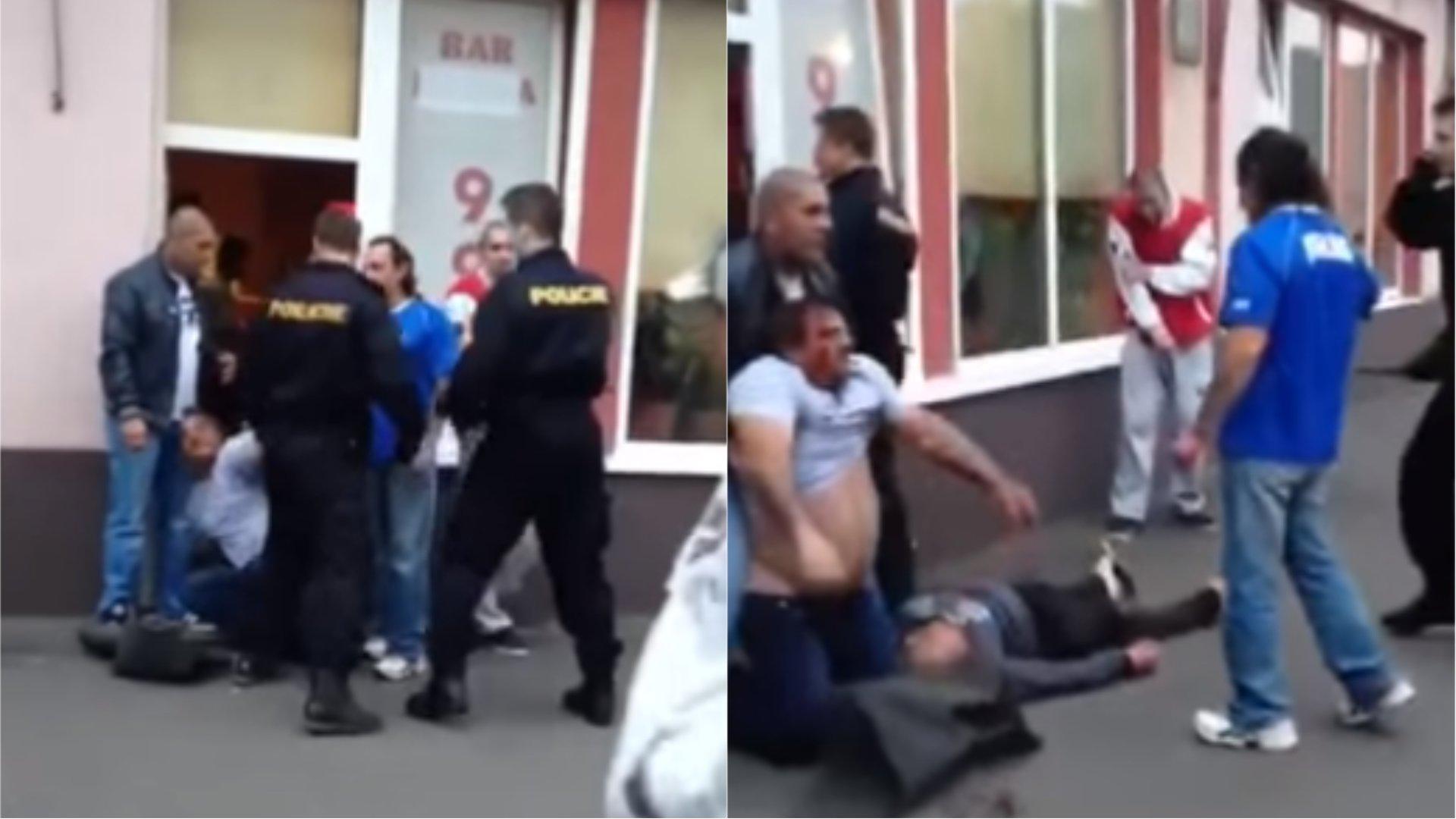 Policie se snažila opilce uklidnit.