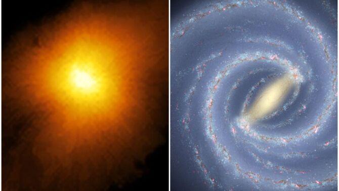 ALMA (ESO/NAOJ/NRAO), Rizzo et al./NASA/JPL-Caltech/ESO/R. Hurt, Public domain